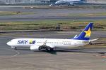funi9280さんが、羽田空港で撮影したスカイマーク 737-8FZの航空フォト(飛行機 写真・画像)