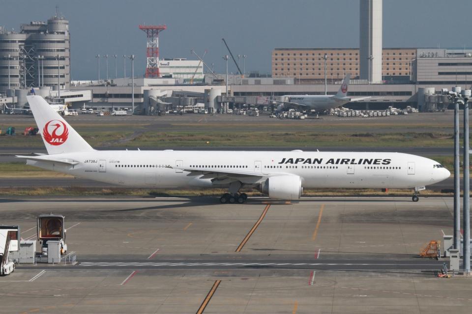 rjジジィさんの日本航空 Boeing 777-300 (JA738J) 航空フォト