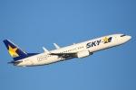 sky-spotterさんが、羽田空港で撮影したスカイマーク 737-8FZの航空フォト(写真)