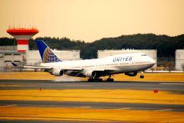 まいけるさんが、成田国際空港で撮影したユナイテッド航空 747-422の航空フォト(飛行機 写真・画像)