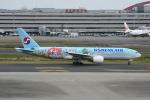 シュウさんが、羽田空港で撮影した大韓航空 777-2B5/ERの航空フォト(写真)