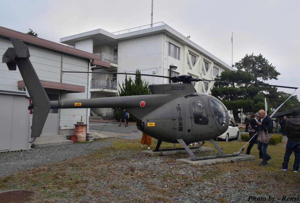 れんしさんの陸上自衛隊 Kawasaki OH-6D (31181) 航空フォト