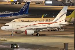 Cozy Gotoさんが、羽田空港で撮影したグローバル・ジェット・ルクセンブルク A318-112 CJ Eliteの航空フォト(写真)