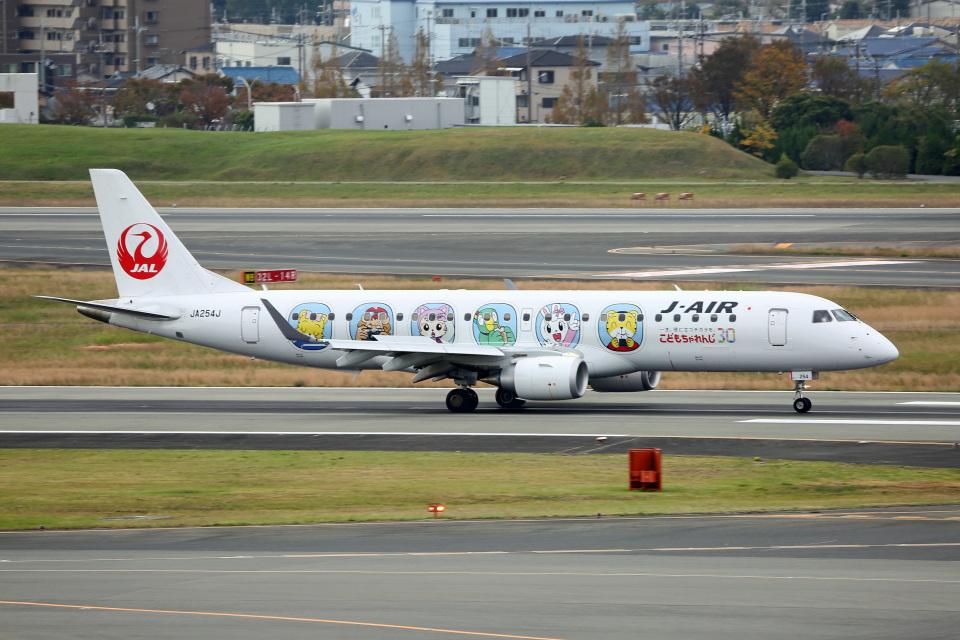 takepapaさんのジェイエア Embraer 190 (JA254J) 航空フォト