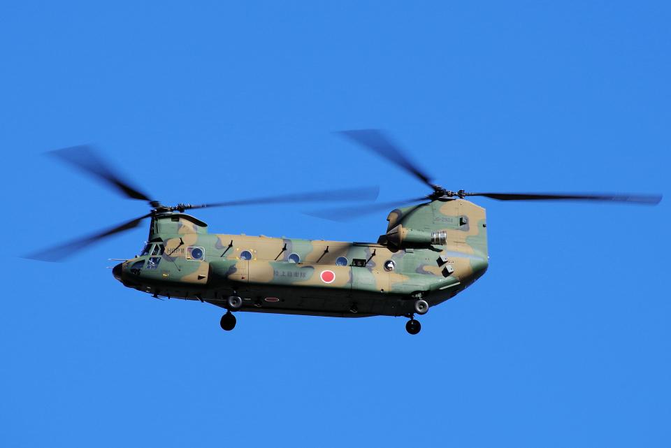 yabyanさんの陸上自衛隊 Kawasaki CH-47J Chinook (52924) 航空フォト