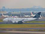 ひとつぼし / 航空YouTuberさんが、羽田空港で撮影したタイ国際航空 747-4D7の航空フォト(飛行機 写真・画像)