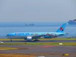 ひとつぼし / 航空YouTuberさんが、羽田空港で撮影した大韓航空 777-2B5/ERの航空フォト(飛行機 写真・画像)