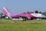 落武者さんが、松山空港で撮影したピーチ A320-214の航空フォト(写真)