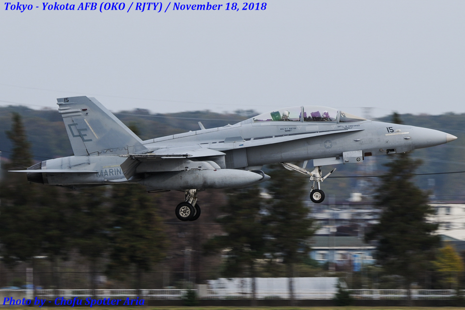 Chofu Spotter Ariaさんのアメリカ海兵隊 McDonnell Douglas F/A-18 Hornet (164672) 航空フォト