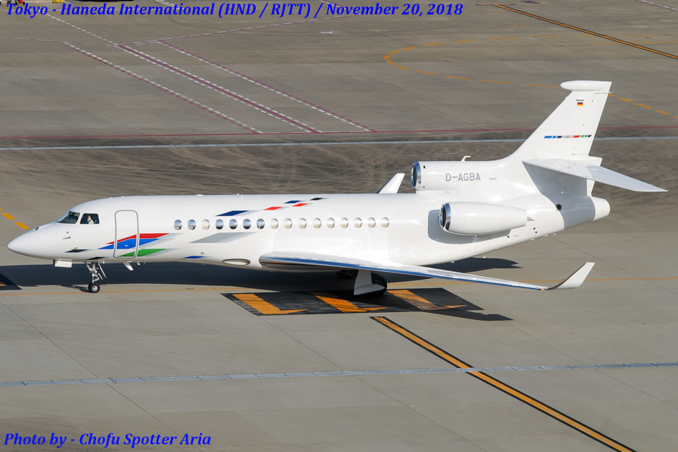 Chofu Spotter AriaさんのVW Air Services Dassault Falcon 8X (D-AGBA) 航空フォト