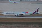 神宮寺ももさんが、仁川国際空港で撮影したカタール航空 777-3DZ/ERの航空フォト(飛行機 写真・画像)