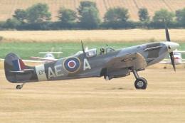 MOR1(新アカウント)さんが、ダックスフォード飛行場で撮影したuntitled 349 Spitfire F5Bの航空フォト(飛行機 写真・画像)
