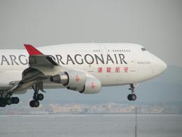 きんめいさんが、関西国際空港で撮影した香港ドラゴン航空 747-412(BCF)の航空フォト(飛行機 写真・画像)