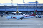 T.Sazenさんが、関西国際空港で撮影したティーウェイ航空 737-83Nの航空フォト(飛行機 写真・画像)