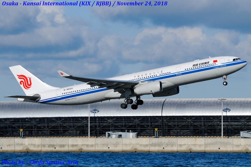Chofu Spotter Ariaさんの中国国際航空 Airbus A330-300 (B-8689) 航空フォト