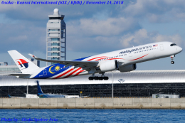 Chofu Spotter Ariaさんが、関西国際空港で撮影したマレーシア航空 A350-941XWBの航空フォト(写真)
