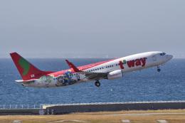 yabyanさんが、中部国際空港で撮影したティーウェイ航空 737-8HXの航空フォト(写真)