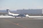 KKiSMさんが、新千歳空港で撮影したオーロラ DHC-8-402Q Dash 8の航空フォト(写真)