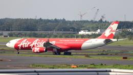 誘喜さんが、成田国際空港で撮影したインドネシア・エアアジア・エックス A330-343Xの航空フォト(写真)