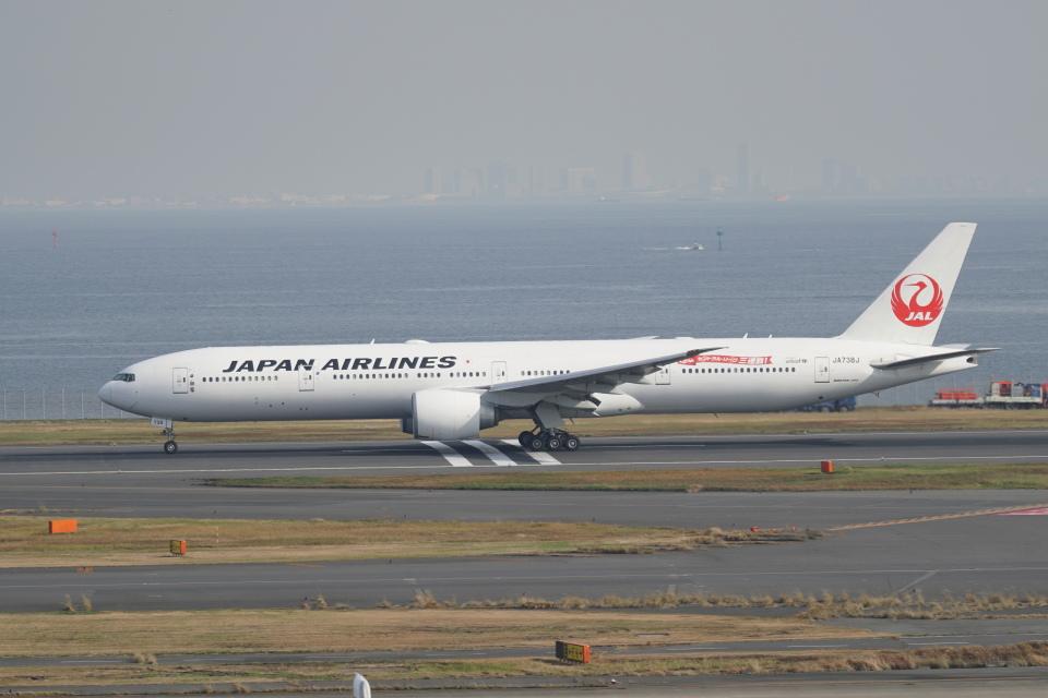 pringlesさんの日本航空 Boeing 777-300 (JA738J) 航空フォト