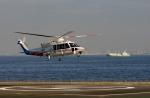 あきらっすさんが、横浜ヘリポートで撮影した山梨県防災航空隊 S-76Dの航空フォト(写真)
