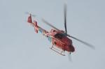 みいさんさんが、笠岡ふれあい空港で撮影した岡山県消防防災航空隊 412EPの航空フォト(写真)
