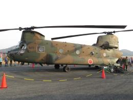 MIRAGE E.Rさんが、笠岡ふれあい空港で撮影した陸上自衛隊 CH-47Jの航空フォト(飛行機 写真・画像)