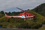 とびたさんが、静岡ヘリポートで撮影した静岡市消防航空隊 412EPの航空フォト(写真)