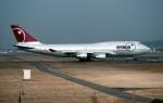 ハミングバードさんが、名古屋飛行場で撮影したノースウエスト航空 747-451の航空フォト(写真)