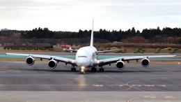 誘喜さんが、成田国際空港で撮影したマレーシア航空 A380-841の航空フォト(写真)