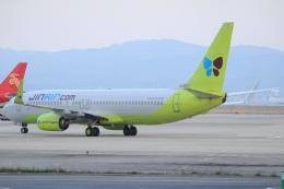 キイロイトリさんが、関西国際空港で撮影したジンエアー 737-8SHの航空フォト(写真)