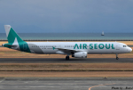 れんしさんが、山口宇部空港で撮影したエアソウル A321-231の航空フォト(写真)