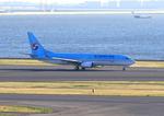 ふじいあきらさんが、羽田空港で撮影した大韓航空 737-8GQの航空フォト(写真)