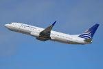BOSTONさんが、サンパウロ・グアルーリョス国際空港で撮影したコパ航空 737-8V3の航空フォト(写真)