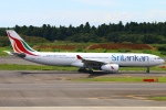Kuuさんが、成田国際空港で撮影したスリランカ航空 A330-343Xの航空フォト(飛行機 写真・画像)