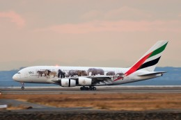 T.Sazenさんが、関西国際空港で撮影したエミレーツ航空 A380-861の航空フォト(飛行機 写真・画像)