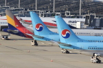 キイロイトリさんが、関西国際空港で撮影した大韓航空 737-9B5の航空フォト(写真)