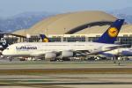 masa707さんが、ロサンゼルス国際空港で撮影したルフトハンザドイツ航空 A380-841の航空フォト(写真)