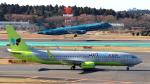誘喜さんが、成田国際空港で撮影したジンエアー 737-8SHの航空フォト(写真)