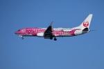 レドームさんが、羽田空港で撮影した日本トランスオーシャン航空 737-8Q3の航空フォト(写真)