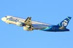 masa707さんが、ロサンゼルス国際空港で撮影したアラスカ航空 A320-214の航空フォト(写真)