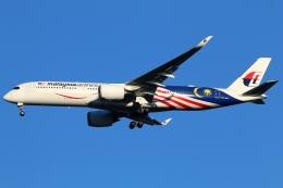 まえちんさんが、成田国際空港で撮影したマレーシア航空 A350-941XWBの航空フォト(写真)