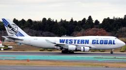 誘喜さんが、成田国際空港で撮影したウエスタン・グローバル・エアラインズ 747-446(BCF)の航空フォト(写真)