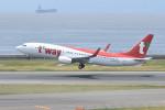 kuro2059さんが、中部国際空港で撮影したティーウェイ航空 737-8Q8の航空フォト(飛行機 写真・画像)