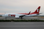 ハピネスさんが、関西国際空港で撮影したティーウェイ航空 737-8Q8の航空フォト(写真)