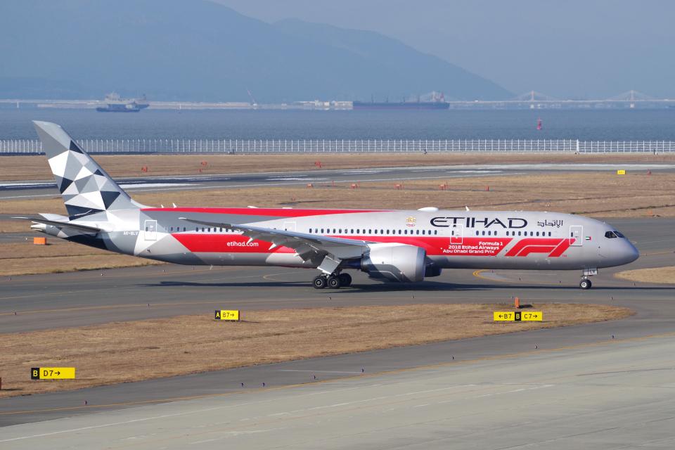 yabyanさんのエティハド航空 Boeing 787-9 (A6-BLV) 航空フォト