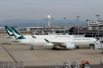 ハピネスさんが、関西国際空港で撮影したキャセイパシフィック航空 A350-941の航空フォト(飛行機 写真・画像)