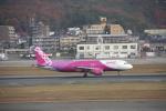 おがりょうさんが、福岡空港で撮影したピーチ A320-214の航空フォト(写真)