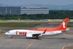 パンダさんが、新千歳空港で撮影したティーウェイ航空 737-8Q8の航空フォト(写真)