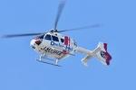 500さんが、自宅上空で撮影した本田航空 EC135P2+の航空フォト(写真)